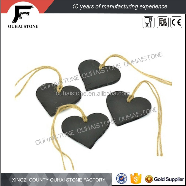 Wedding gifts black slate heart napkin ring creative tableware