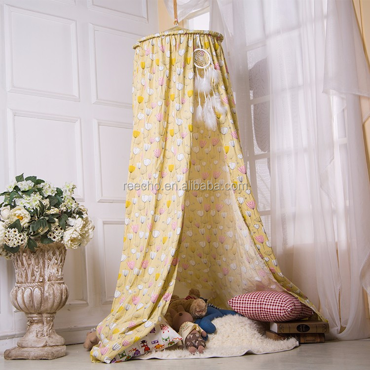 Indoor Bedroom Pink Girls Bed Canopy/Luxury Bed Canopy/Baby Bed Canopy