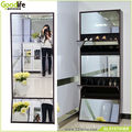 Space saving shoe cabinet with full length mirror import furniture from china