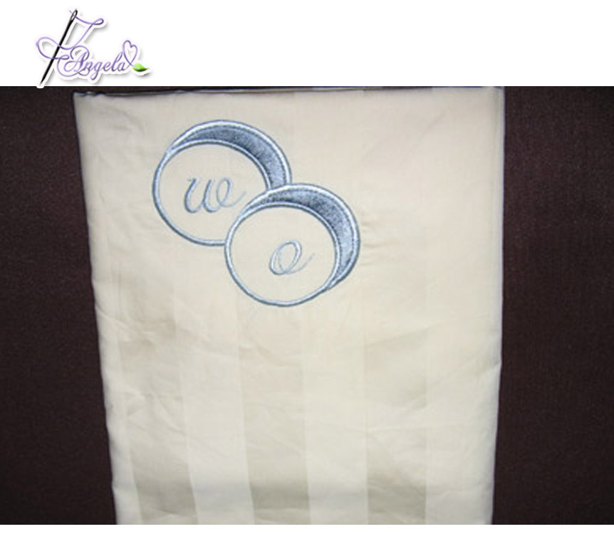 factory 100% cotton 200TC plain percale white hotel linen pillow case pillow cover with custom embroidered logo