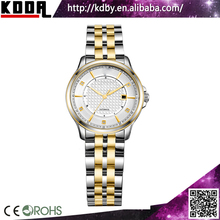 Gold and SiIver two tone stainless steel watch Ladies bangle watch for small wrist