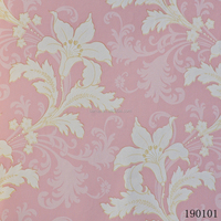 Barca brand pink flower 3d wallpaper for home decoration