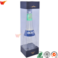 wanli brand custom pp pet pvc clear plastic packaging box for wine