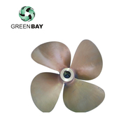 Strong thrust cargo ship propeller 4 blade shaft homemade copper boat sold