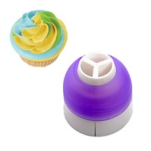 3 Color Coupler Bakeware Cupcake Decorating Tools Icing Piping Cream Pastry Bag & Nozzle Converter