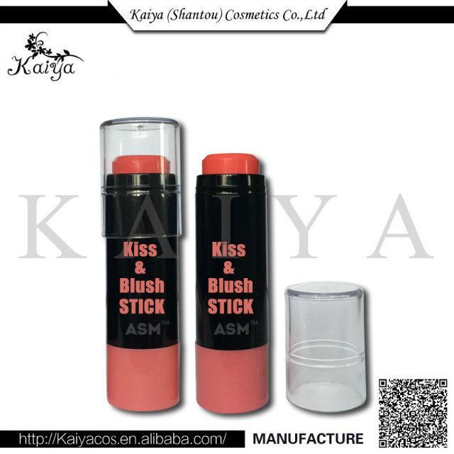 OEM New Style Cosmetic Makeup 2 In 1 Natural Moist Lip Cheek Stick Easy To Color Blush Stick