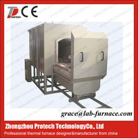 Protech gas controlled car bottom furnace for industrial heating treatment