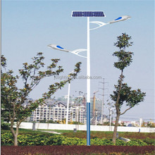 9m conical street light pole(poste de luz la calle,Strabe Lichtmast) HDG with painting with double arms with CE