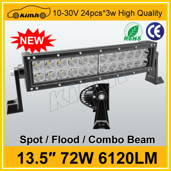 "Manufacture 13.5"" 72w 6120LM curved off road led light bar"