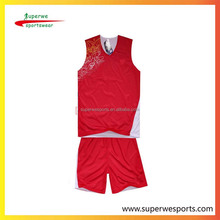 custom print exercise reversible unsex uniforms basketball tops