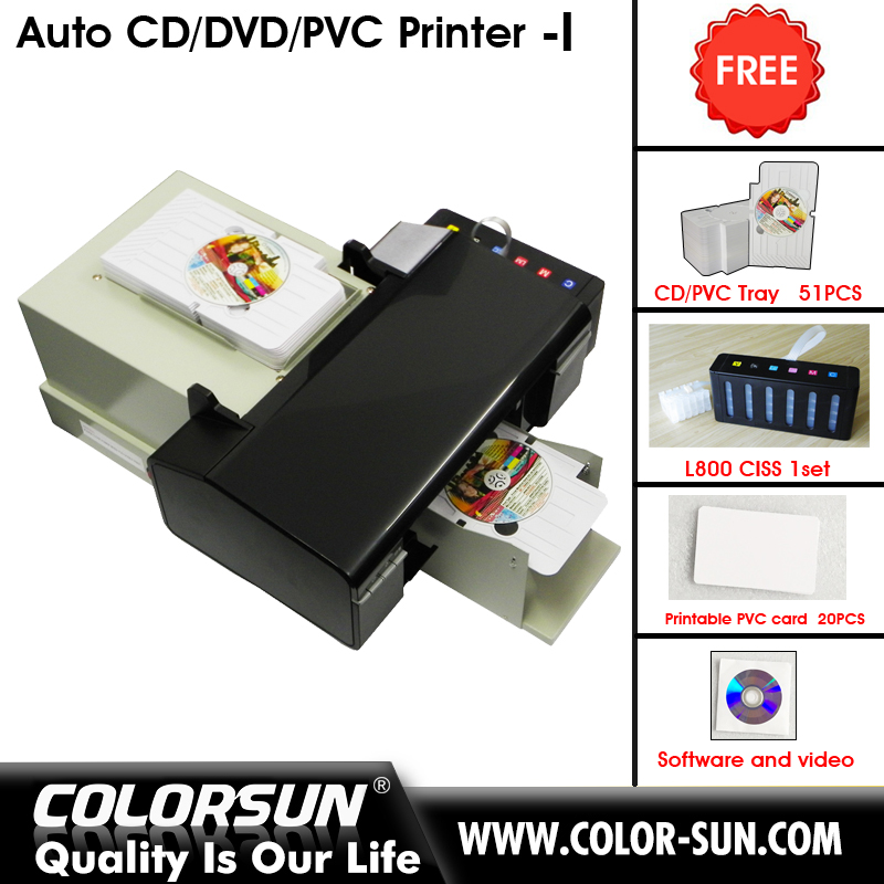 Printing Machine L800 Auto Inkjet PVC Card Printer with high speed