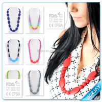 Silicone Fashion Nursing Teething Necklaces For Baby