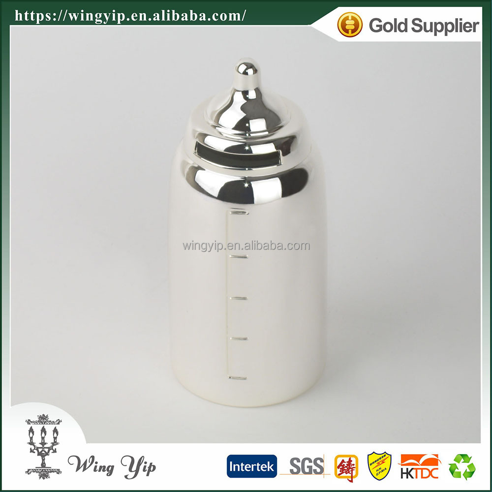 Wholesales Tailor made Baby Bottle Mini Metal Money Saving Box for Gift