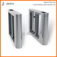 Biometric Stainless Steel Swing Gate