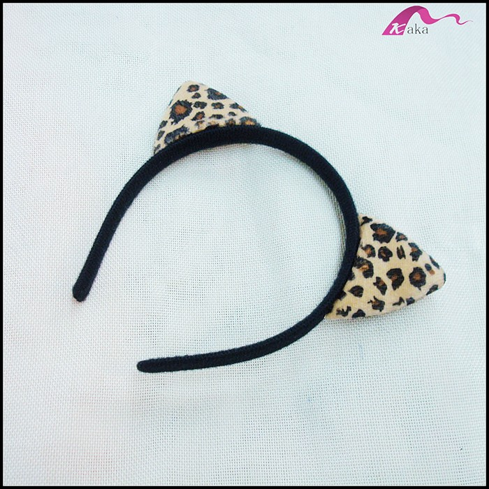 Newest Sexy Custom Leopard Print Animal Cat Ear Cotton Headband For Party Accessories Wholesale