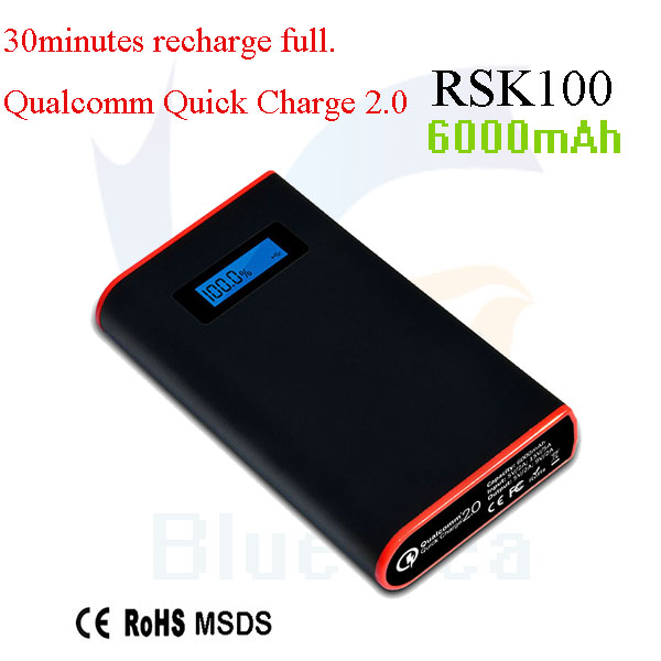Universal Power Bank 9000mAh, Quick Charge 2.0 Power Bank 3 Output Phone Changer
