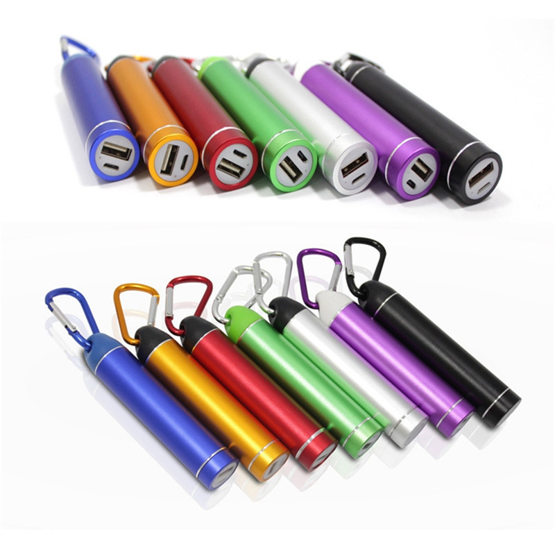Multicolor Mobile Phone Power Bank Storage Cases with match Aluminum Carabiner