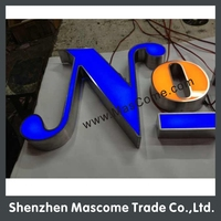 Customized front lit led channel letter,Waterproof Resin material