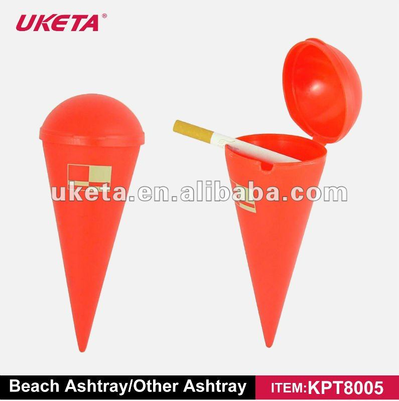 PLASTIC PP COLORED BEACH ASHTRAY ALLOW FOR LOGO PRINTING AND AD LEAVE NO CIGARETTE BUTTS ON THE BEACH AND ENVIROMENTALPROTECTION