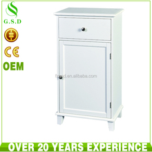 popular style free stand waterproof solid wood bathroom floor cabinet classic