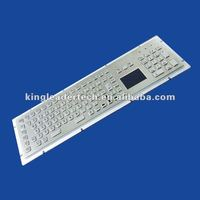 Panel mount metal industrial or kiosk keyboard with touchpad,Function keys and number keypad