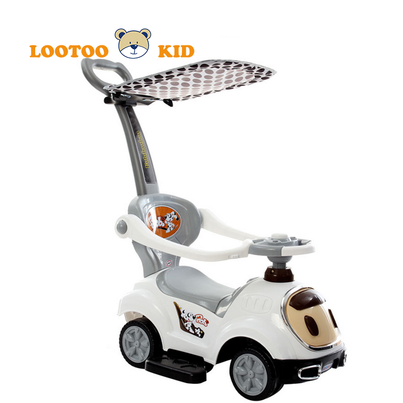 Alibaba china manufacturer cheap price plastic push handle kids childrens drivable cars