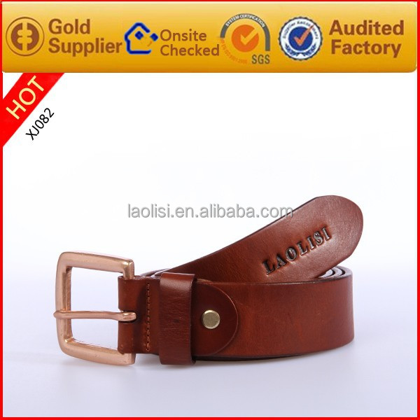 Retro genuine leather belt for men italian belt buckle