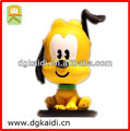 Hot sale cartoon model toy OEM customized 3d plastic pvc anime cartoon animal dog toy