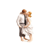 Romantic Bride and Groom Figurine For Wedding Cake Topper