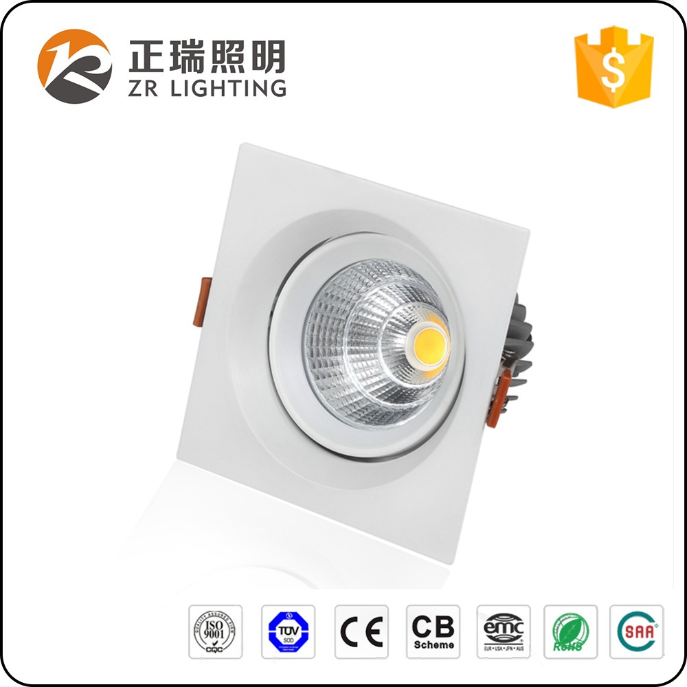 BIS certification 20W 30W Square downlight Adjustable 7W 12W LED Spotlight housing with Aluminum