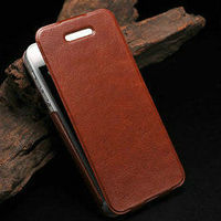 fashionable leather covers for iphone 5 high quality cover for iphone5 flip pu leather case for iphone 5