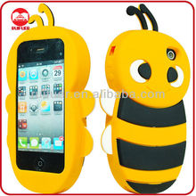 New Cute Little Bee Funky Design 3D Silicon Animal Case for iphone 4 4S