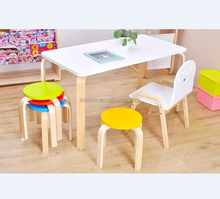 Solid wood children learning table and chair set kindergarten table kids table