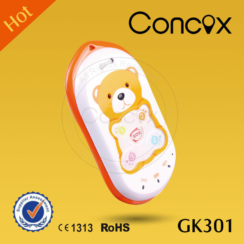 Concox Big Key GK301 GPS+GPRS+GSM Kids Phone with SOS Emergency Call Button Large button cell phone