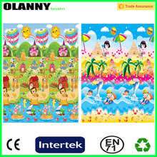 brand logo outdoor soft baby folding play mat