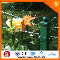 Welded arch top double wire garden fencing