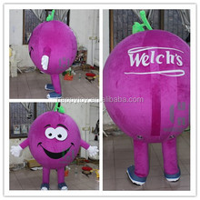 HI popular giant carton fair inflatable Fruit Vegetables mascot costume professional custom plush mascot costumes