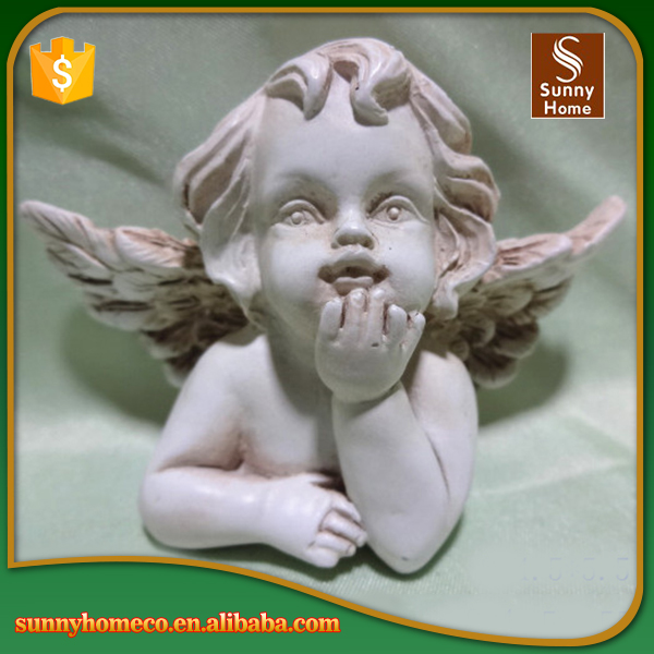 Wholesale custom resin white indoor decoration angel statues