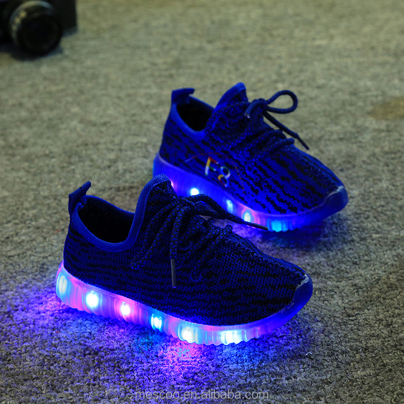 Hot sell Autumn Fashion LED Children's shoes super perfect chaussure boys school casual girls flat Glowing sneakers