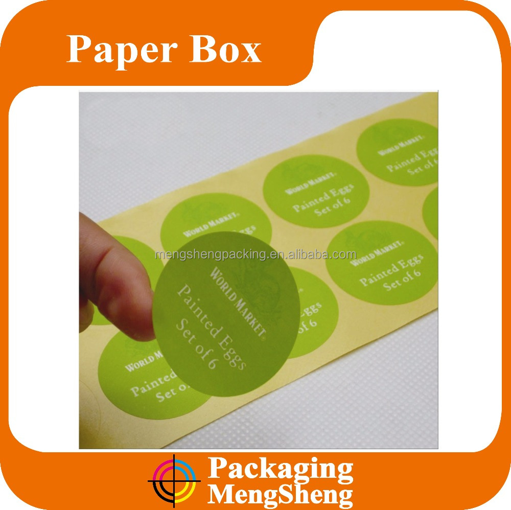 Logo printed adhesive custom paper stickers printing labels
