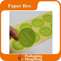 Logo printed adhesive custom paper stickers printing labels