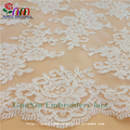 white wedding lace embroidery lace fabric african lace fabrics with cordings