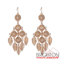 Alloy Metal Feather Earrings E3-10336-2950
