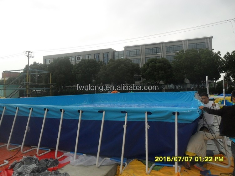 Fwulong Qualified Outdoor Big Frame Pools Steel Frame Pool Metal frame swimming pool