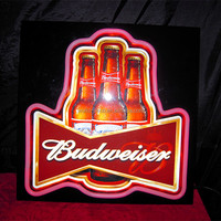 Most popular LED advertising Budweiser Sign, outdoor use beer sign