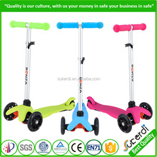 Patented 120mm front wheels quick step pedal kick scooter