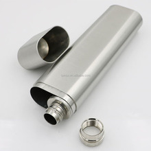2 OZ Stainless Steel Special Hip Flask Frosted Cigar Tube Outdoor