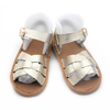 Hot summer shoes cow leather flat sandals for ladies pictures