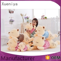 brand new design promotional luxury custom plush toy bear with heart