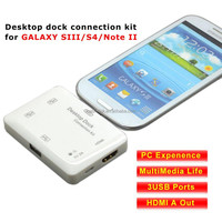 Desktop dock connection kit for samsung GALAXY SIII/S4/Note II combo docking stations